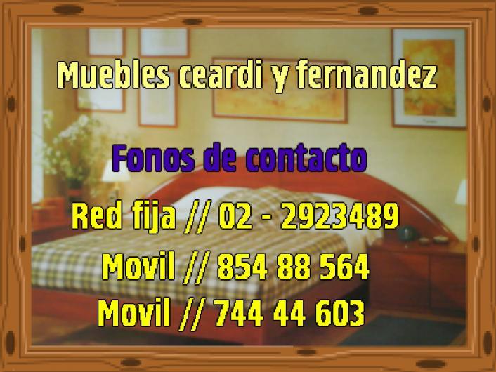 Muebles ceardi y fernandez muebles de calidad en pe alol n for Muebles 1 click opiniones